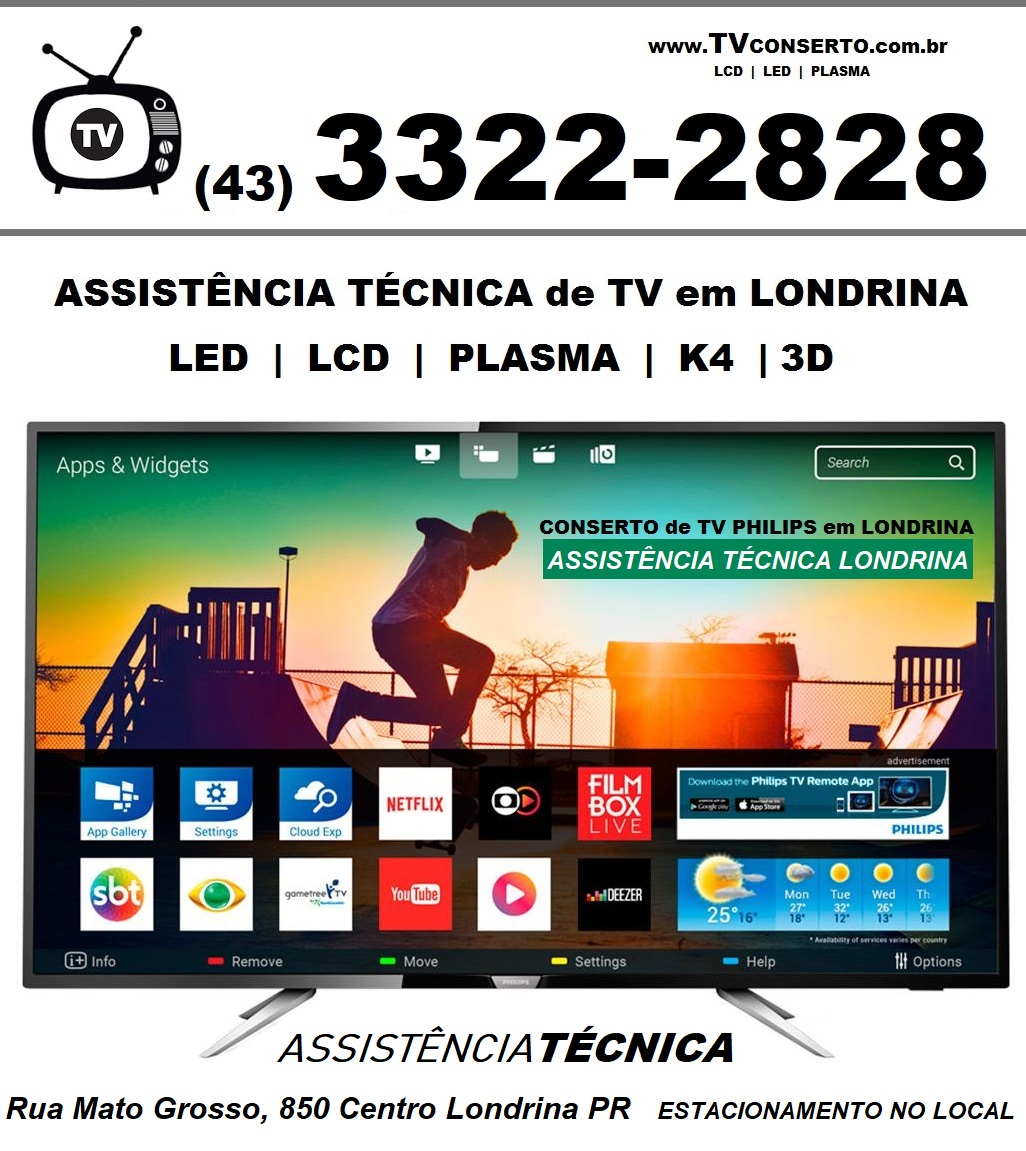 CONSERTO TV PHILIPS LONDRINA